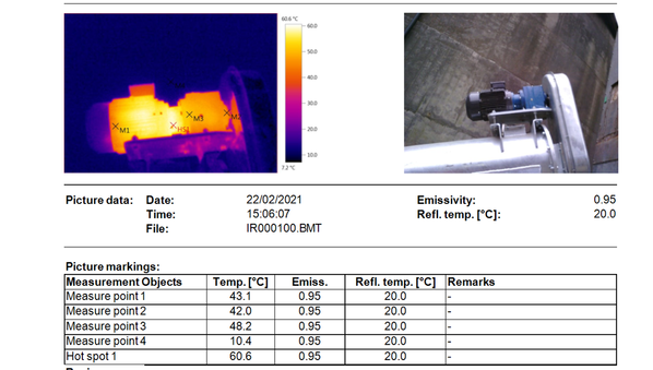 Thermal image auger